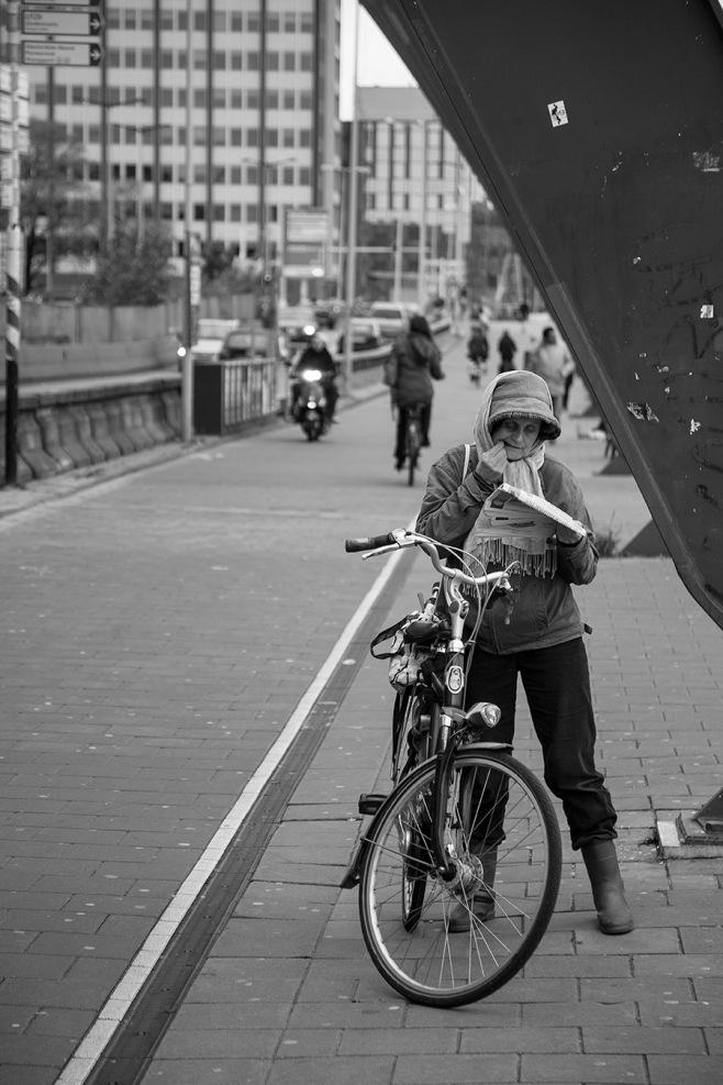 Bike Lady in Amsterdam