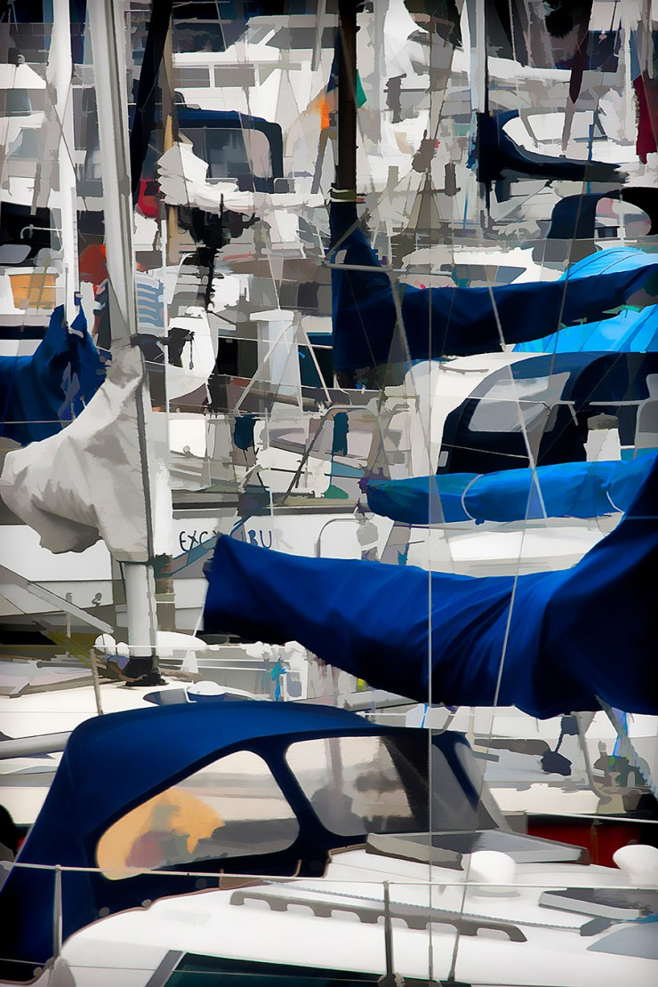 A Mess of Sailing Boats