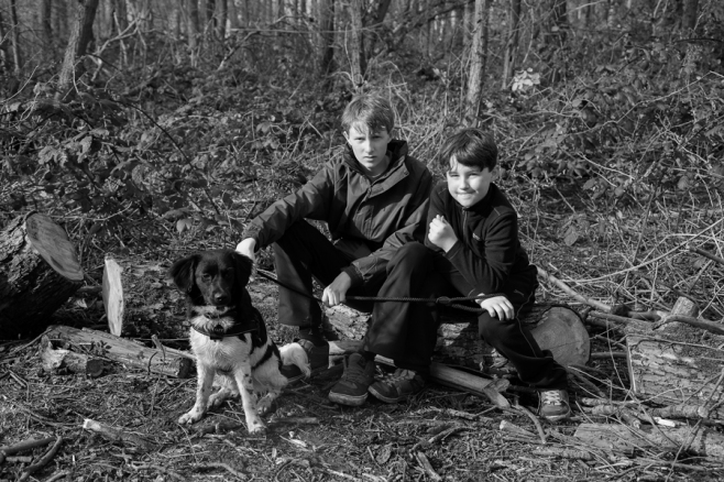 Two Boys and a Dog by The Photo Nomad