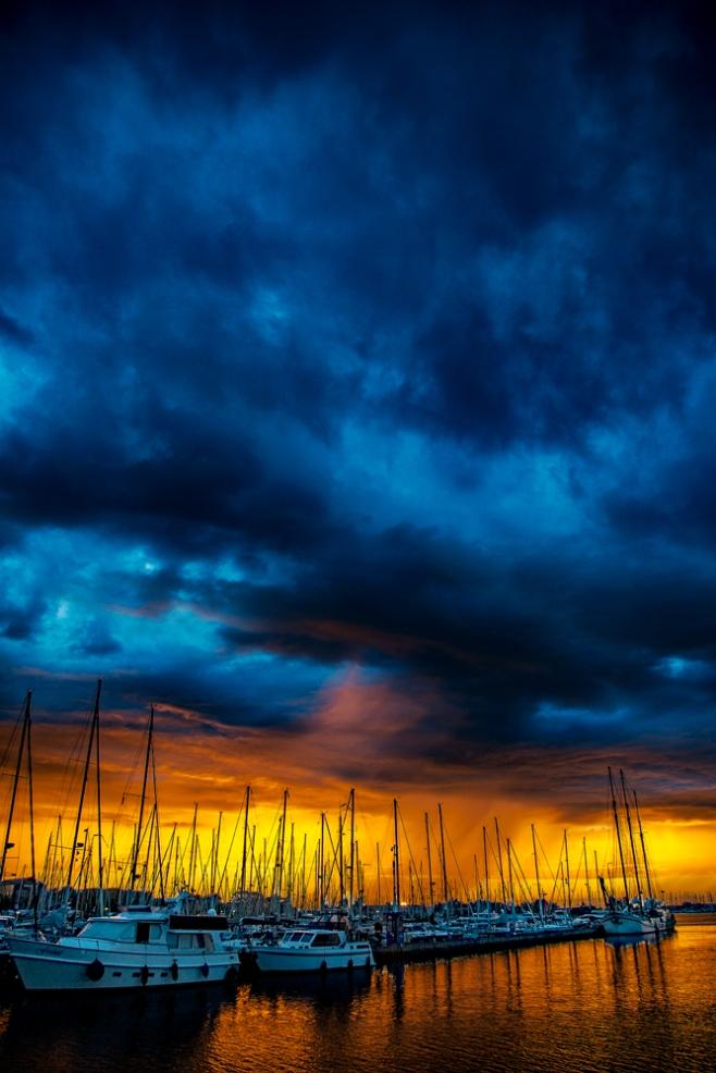 The Sunset Over the Marina Tonight