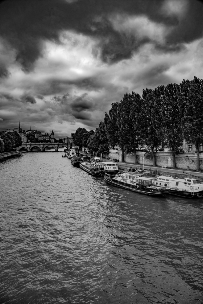 The Stormy Skies Over Paris