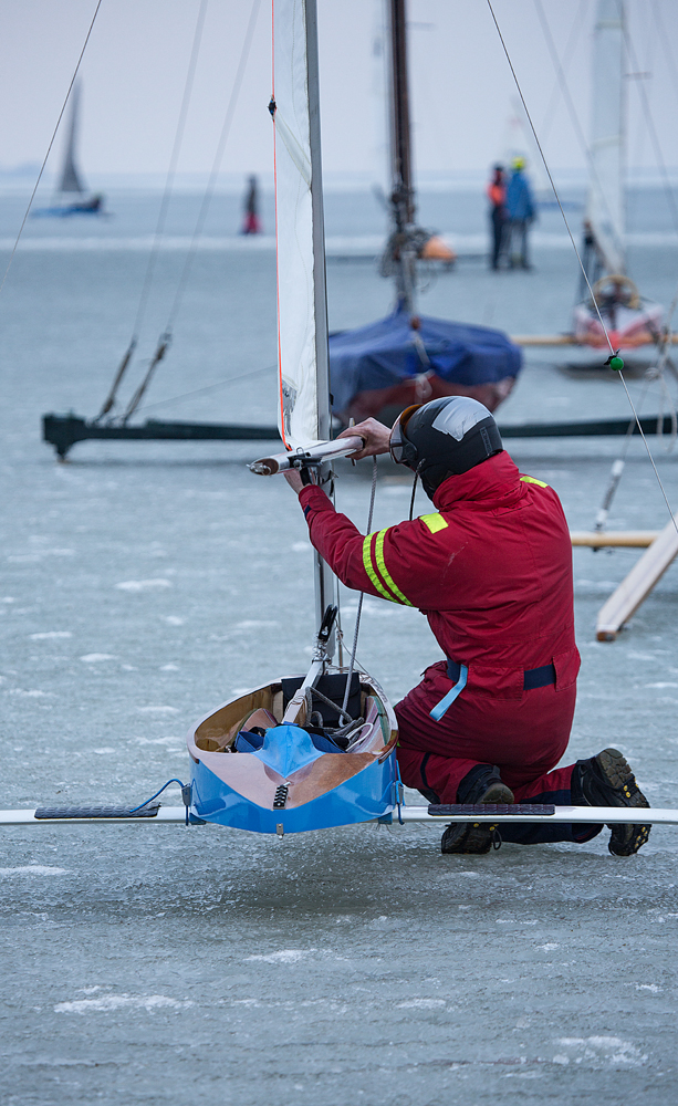 The Ice Boat Sail Setter