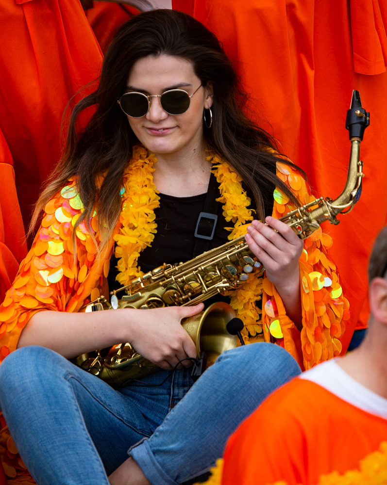 THE KING'S DAY, AMSTERDAM (9): The Sax Girl