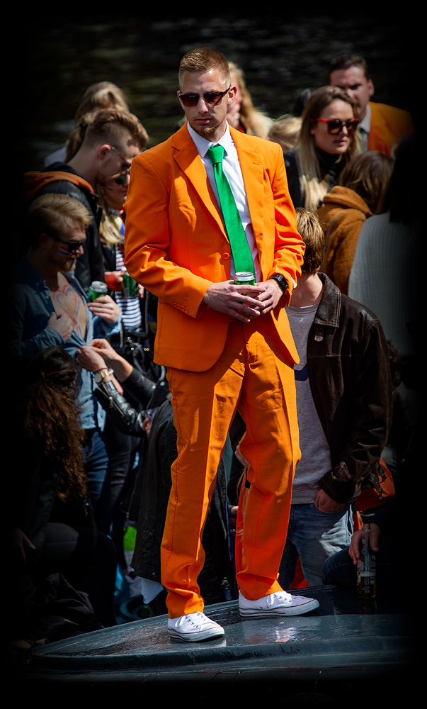 THE KING'S DAY, AMSTERDAM (23): The Orange Suit
