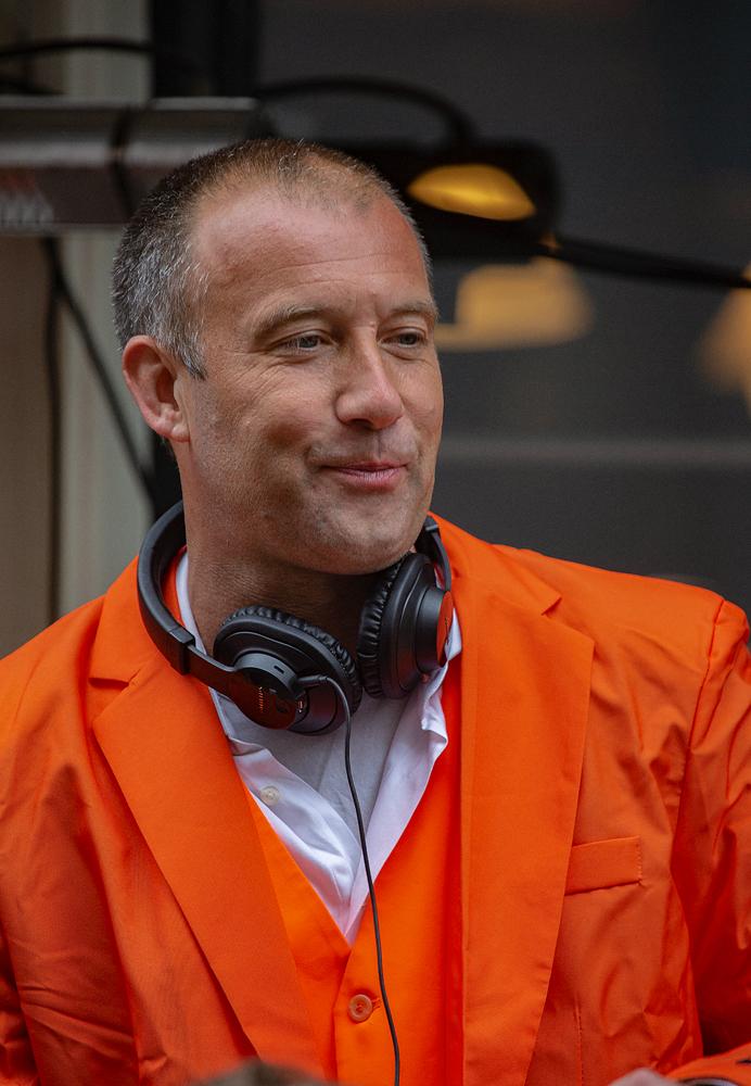 THE KING'S DAY, AMSTERDAM (22): The Orange DJ