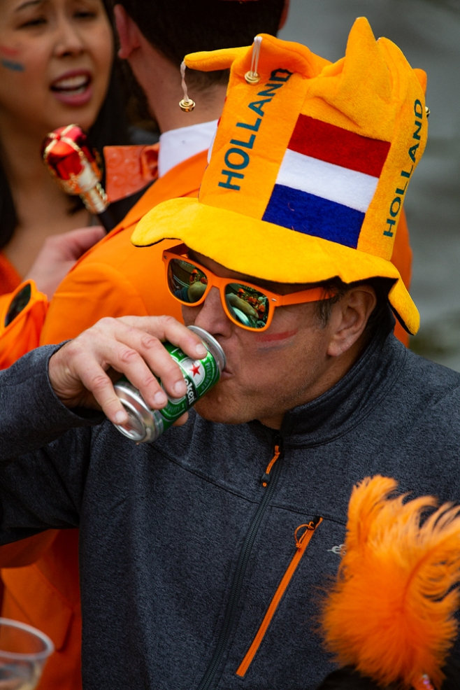 THE KING'S DAY, AMSTERDAM (24): The Hat Man