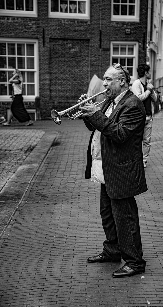 The Man Blowing His OwnTrumpet - Richard Broom Photography