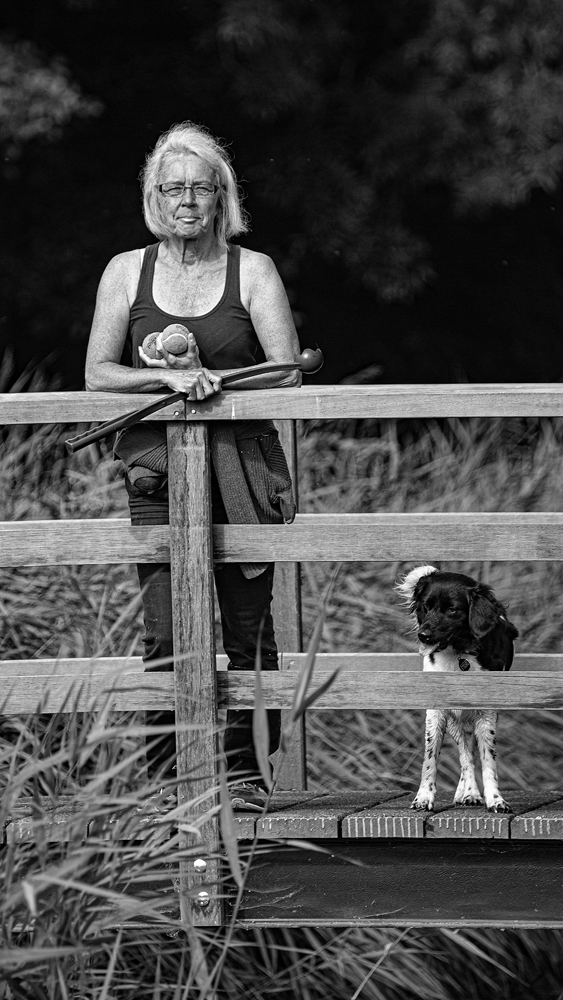 The Woman and the Dog - Richard Broom Photography