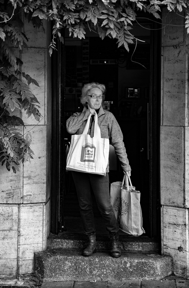 The Love Reading Bag Lady - Richard Broom Photography
