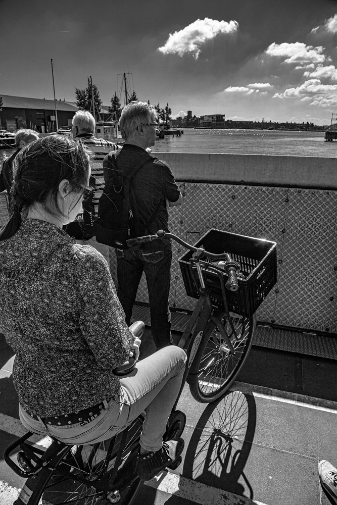The Girl on a Bike on a Ferry - Richard Broom Photography