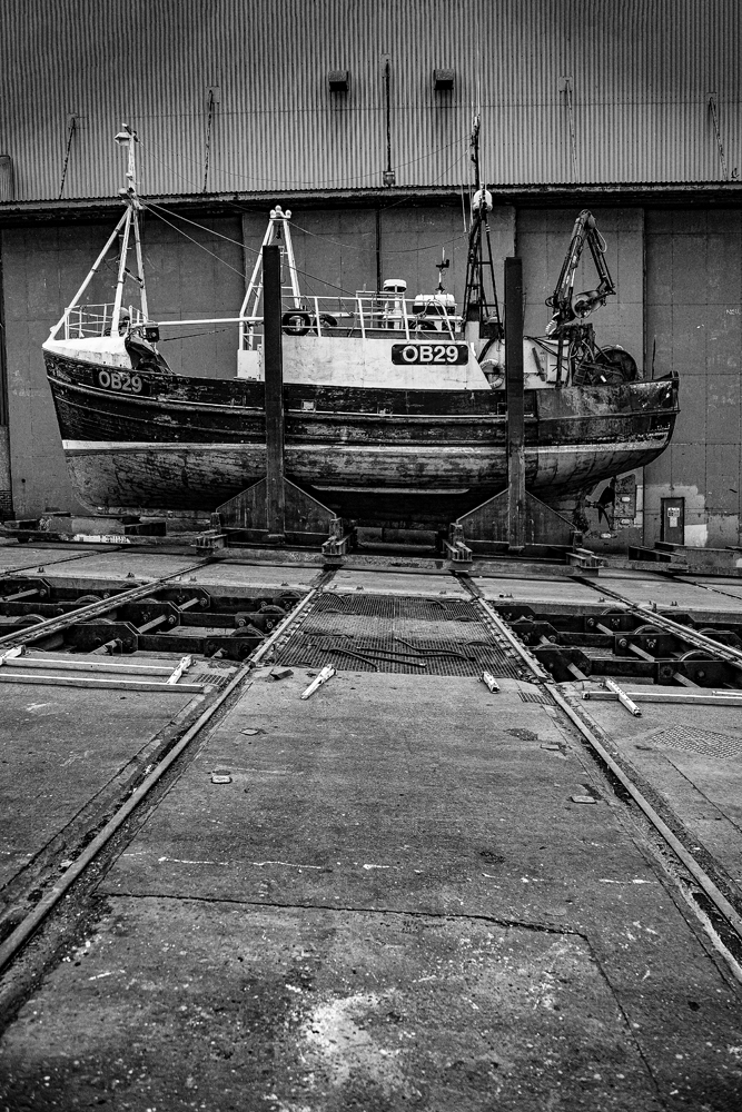 The Boat on the Slip (1) MacDuff Harbour - Richard Broom Photography