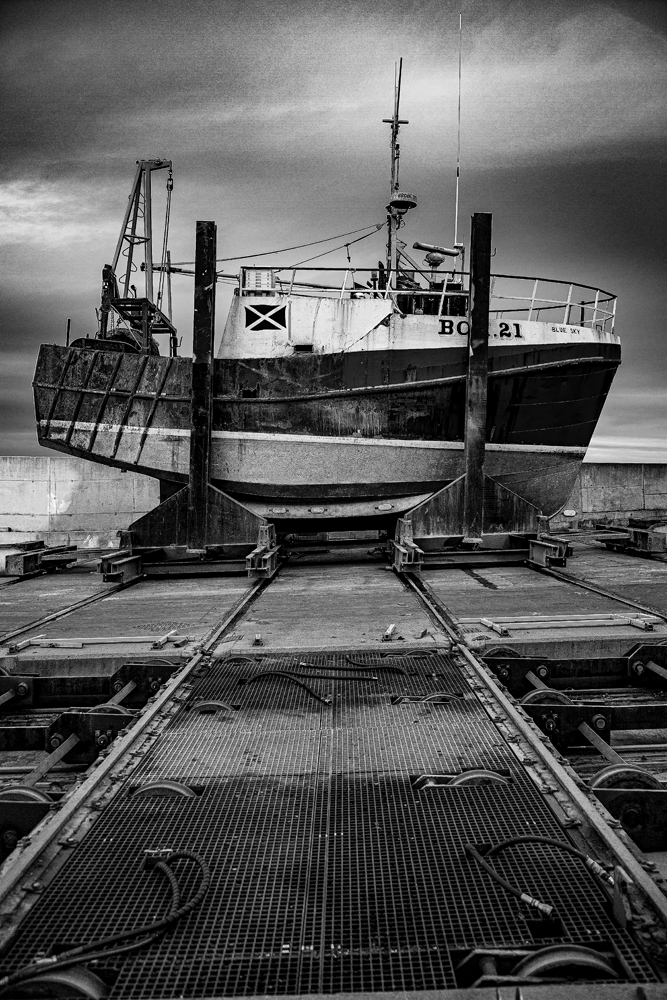 The Boat on the Slip (2) at MacDuff Harbour - Richard Broom Photography