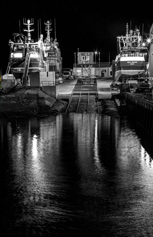 The MacDuff Slip at Night - Richard Broom Photography