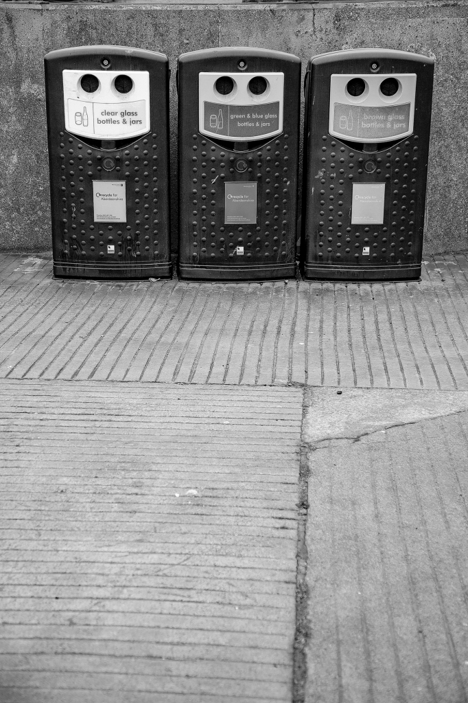 The Three Wise Recycling Bins - Richard Broom Photography