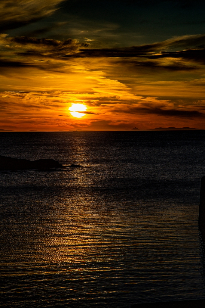 The Sunset From Portsoy - Richard Broom Photography