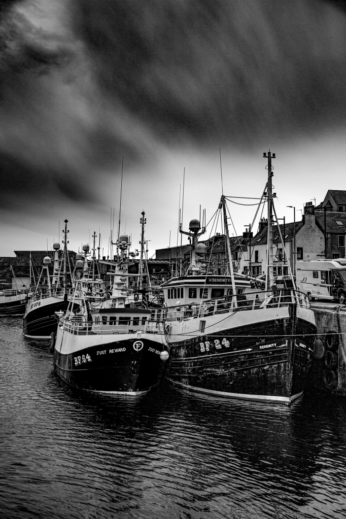 The Stormy Skies Over MacDuff Harbour - Richard Broom Photography