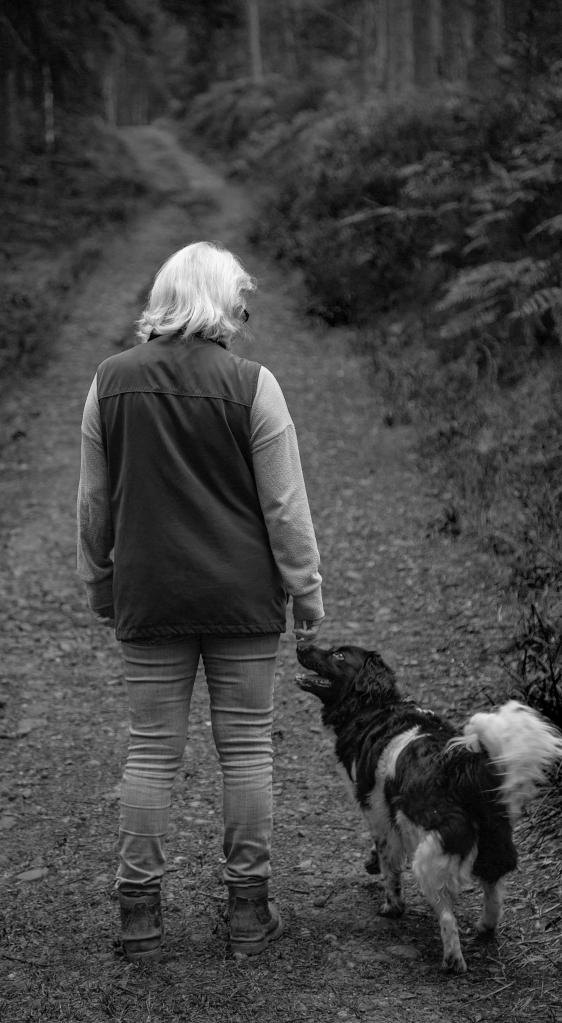 The Woman And Her Dog - Richard Broom Photography