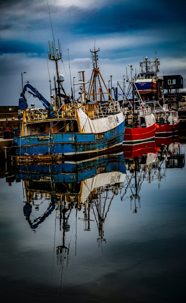 The Fishing Boats in a Row - Richard Broom Photography