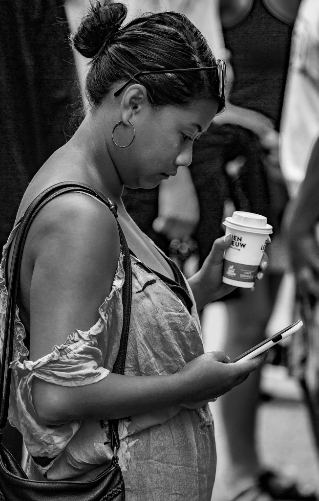 The Coffee and Text Lady - Richard Broom Photography